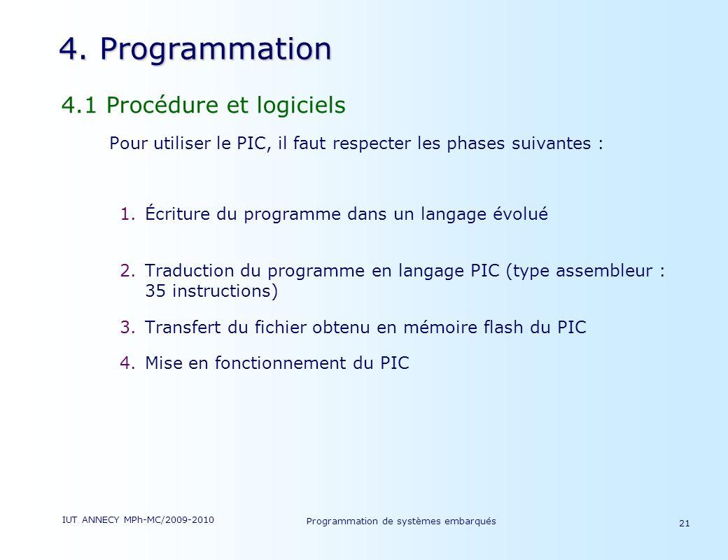 Programmation de systèmes embarqués