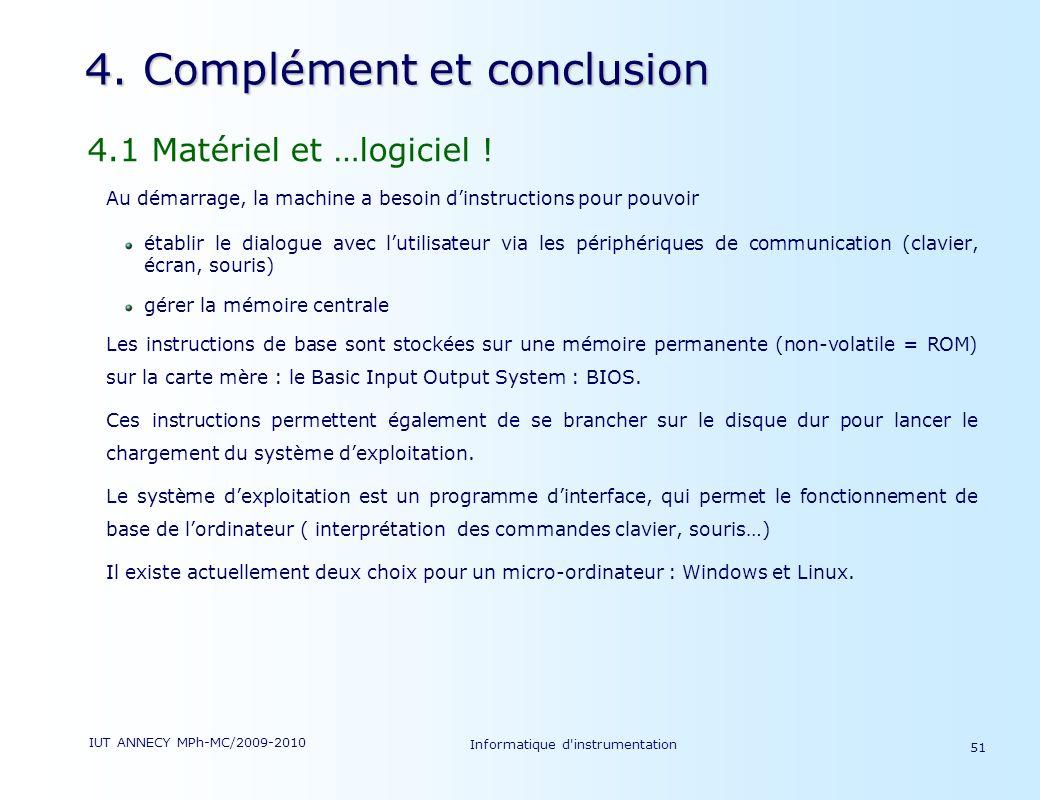 4. Complément et conclusion