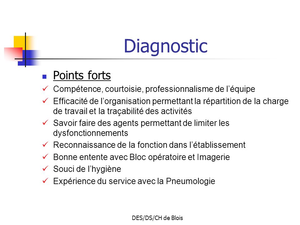 Diagnostic Points forts