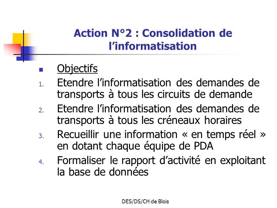 Action N°2 : Consolidation de l'informatisation