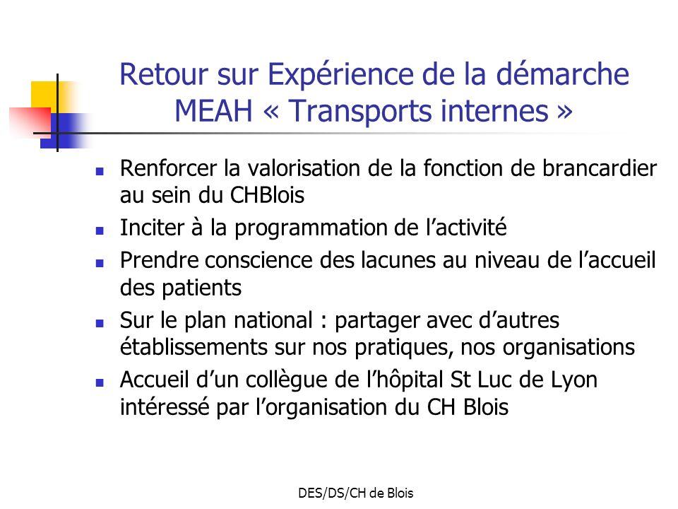Retour sur Expérience de la démarche MEAH « Transports internes »