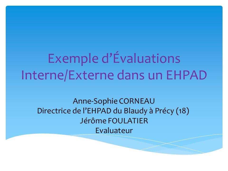 Exemple d'Évaluations Interne/Externe dans un EHPAD