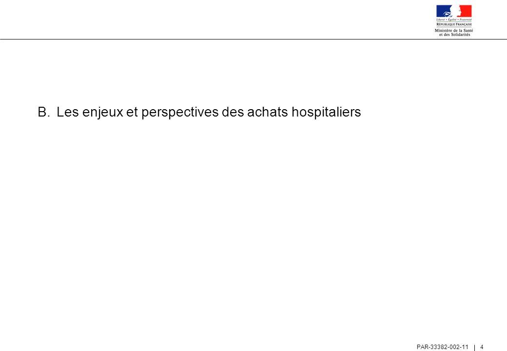Les enjeux et perspectives des achats hospitaliers