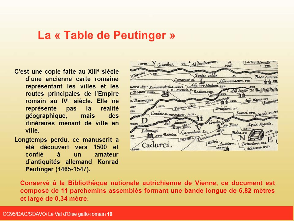 La « Table de Peutinger »