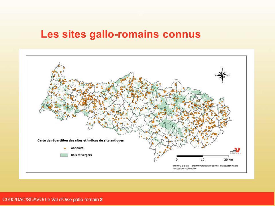 Les sites gallo-romains connus