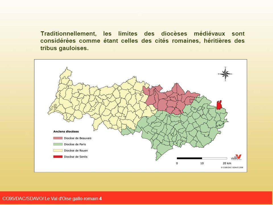 Traditionnellement, les limites des diocèses médiévaux sont considérées comme étant celles des cités romaines, héritières des tribus gauloises.