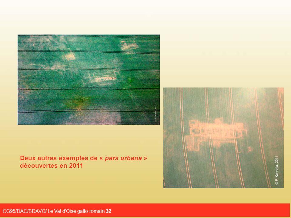 Deux autres exemples de « pars urbana » découvertes en 2011