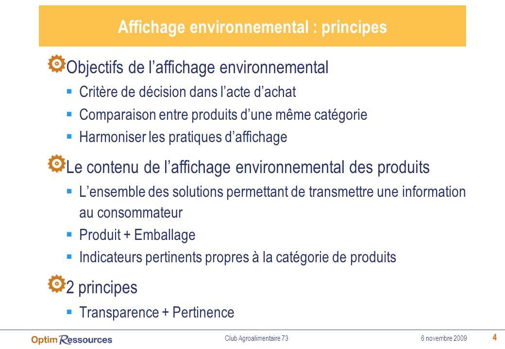 Affichage environnemental : principes