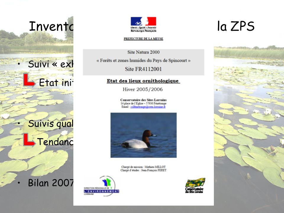 Inventaires ornithologiques sur la ZPS