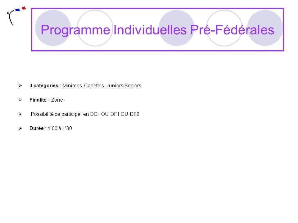 Programme Individuelles Pré-Fédérales