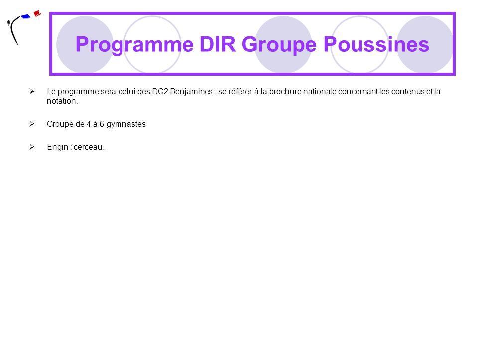 Programme DIR Groupe Poussines