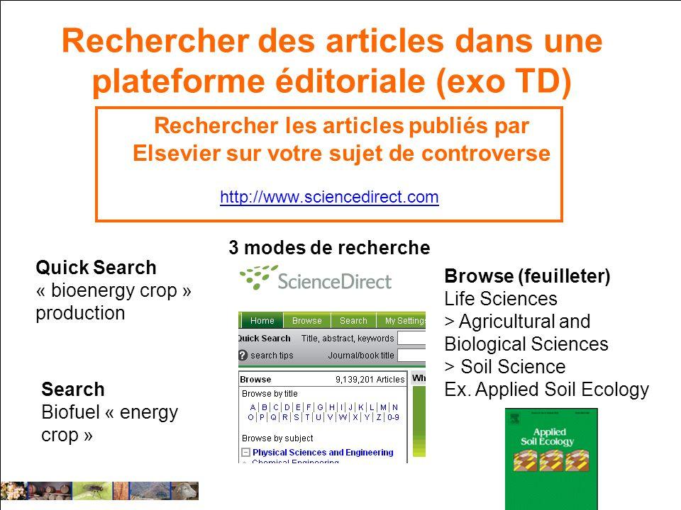 Rechercher des articles dans une plateforme éditoriale (exo TD)
