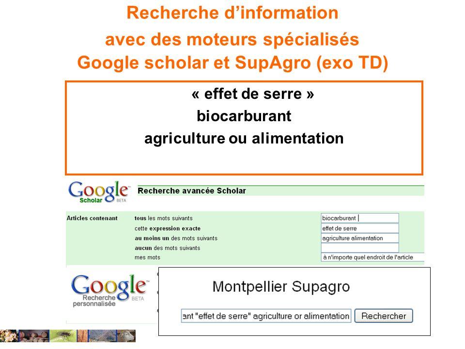 agriculture ou alimentation
