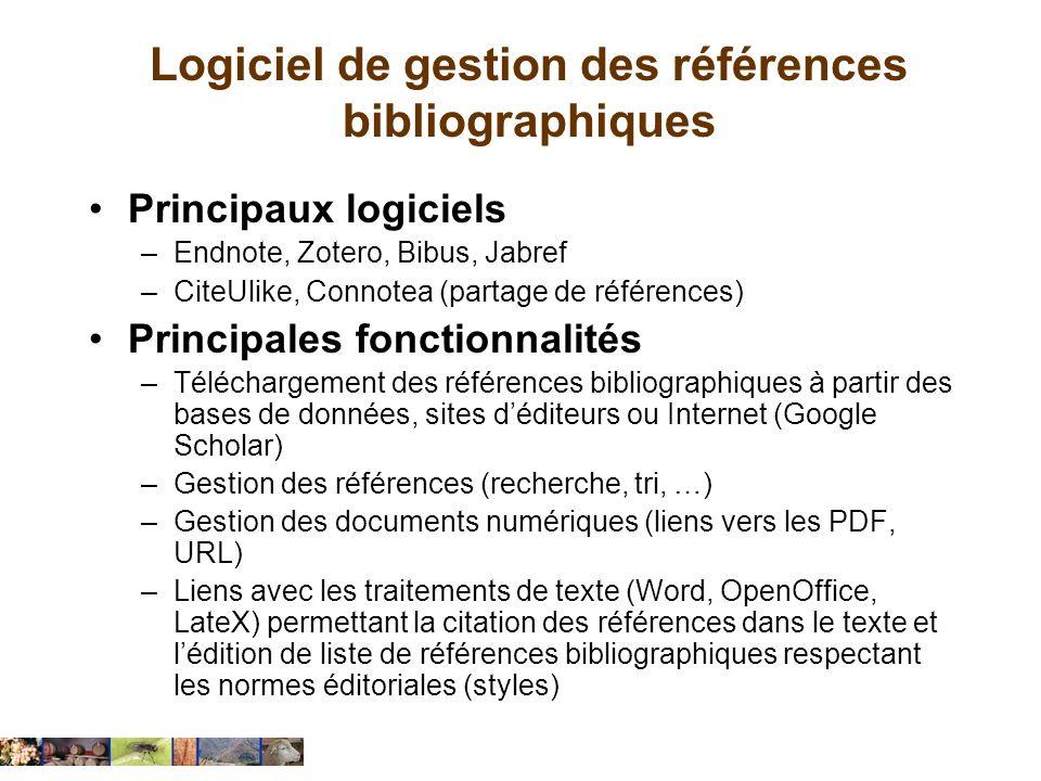 Logiciel de gestion des références bibliographiques