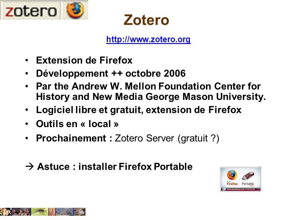 Zotero http://www.zotero.org