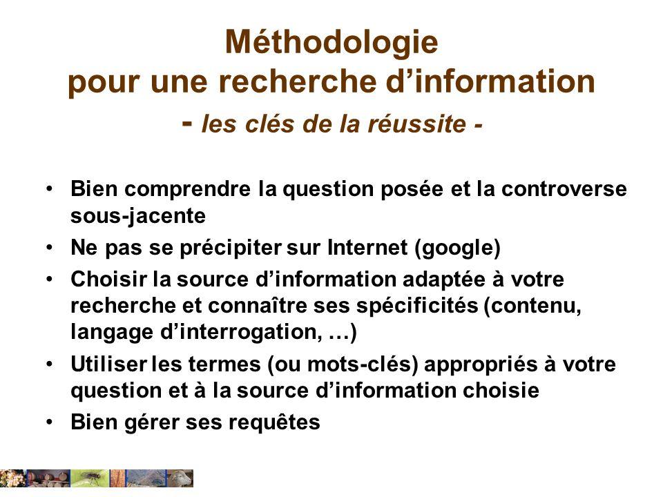 Méthodologie pour une recherche d'information - les clés de la réussite -