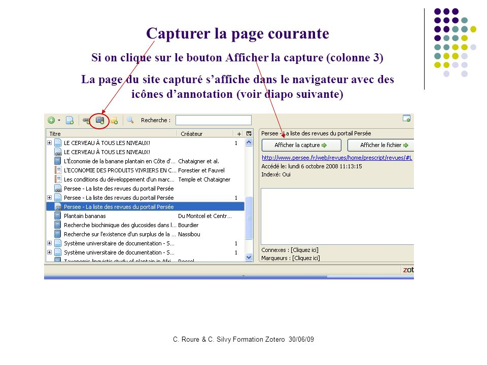 Capturer la page courante
