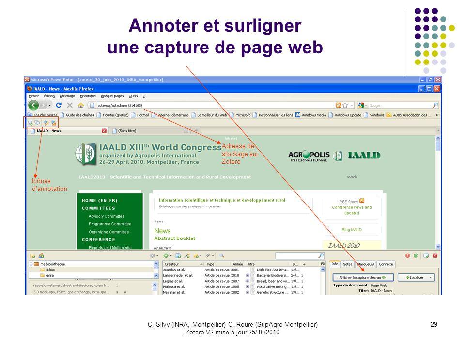 Annoter et surligner une capture de page web