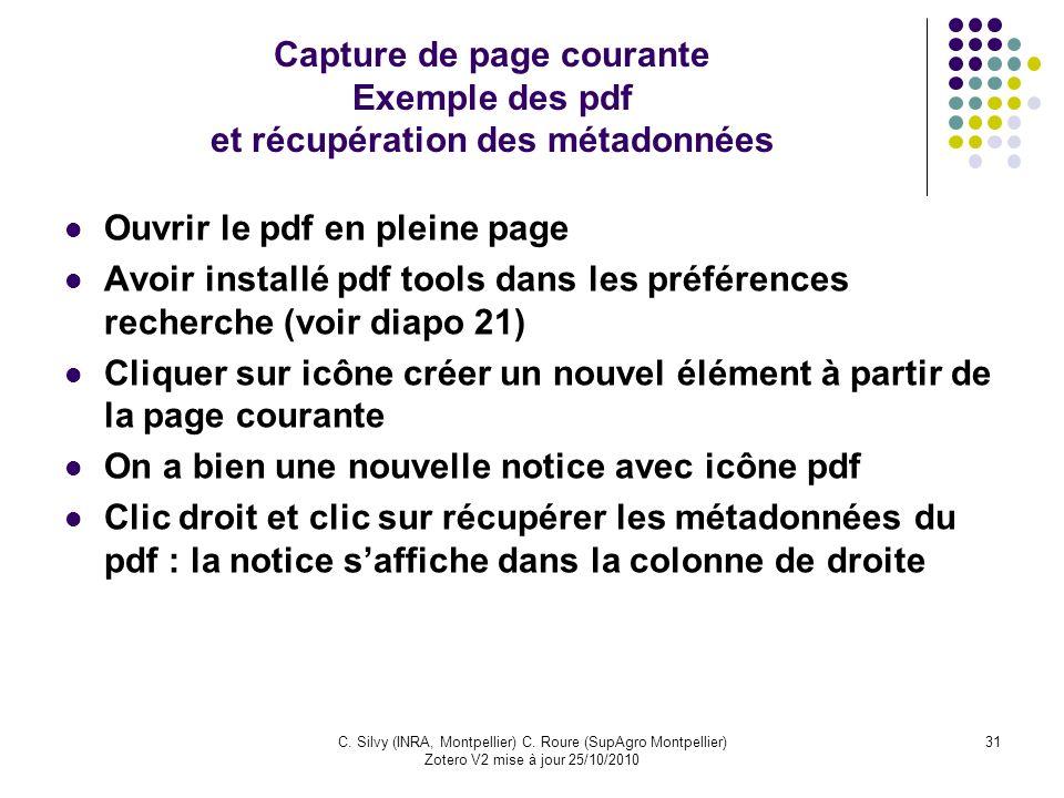 Ouvrir le pdf en pleine page