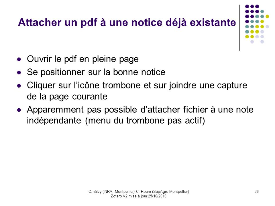 Attacher un pdf à une notice déjà existante