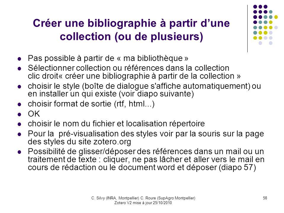 Créer une bibliographie à partir d'une collection (ou de plusieurs)