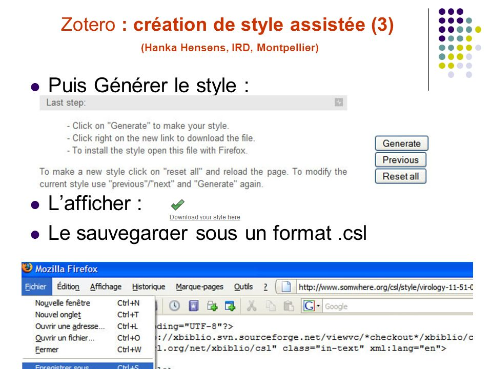 C. Silvy (INRA, Montpellier) Formation Zotero 30/06/10