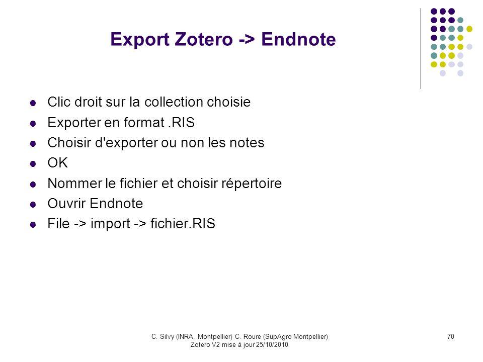 Export Zotero -> Endnote