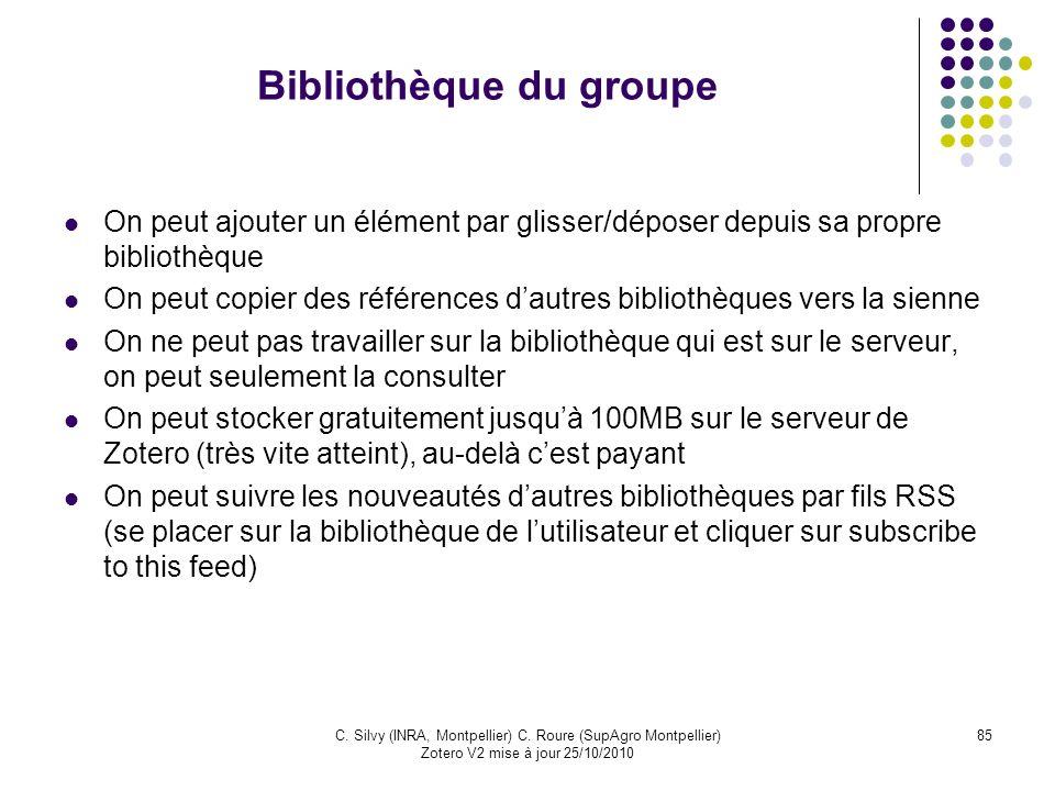 Bibliothèque du groupe