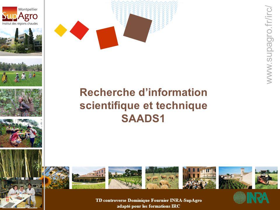 Recherche d'information scientifique et technique SAADS1