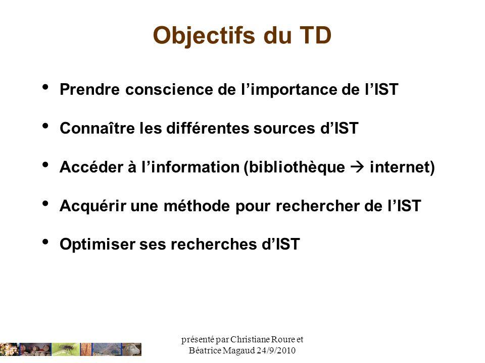 présenté par Christiane Roure et Béatrice Magaud 24/9/2010
