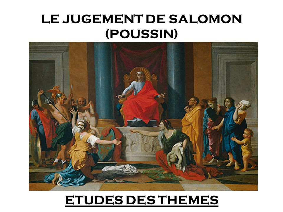 LE JUGEMENT DE SALOMON (POUSSIN)
