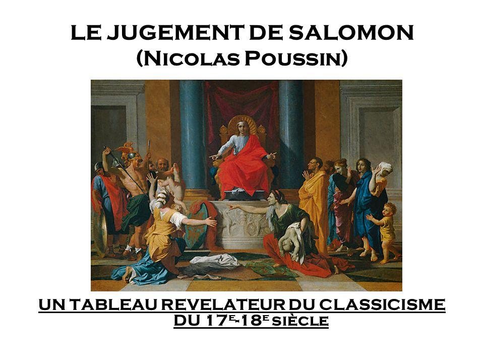 LE JUGEMENT DE SALOMON (Nicolas Poussin)