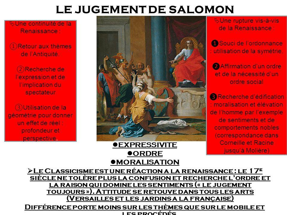 LE JUGEMENT DE SALOMON EXPRESSIVITE ORDRE MORALISATION