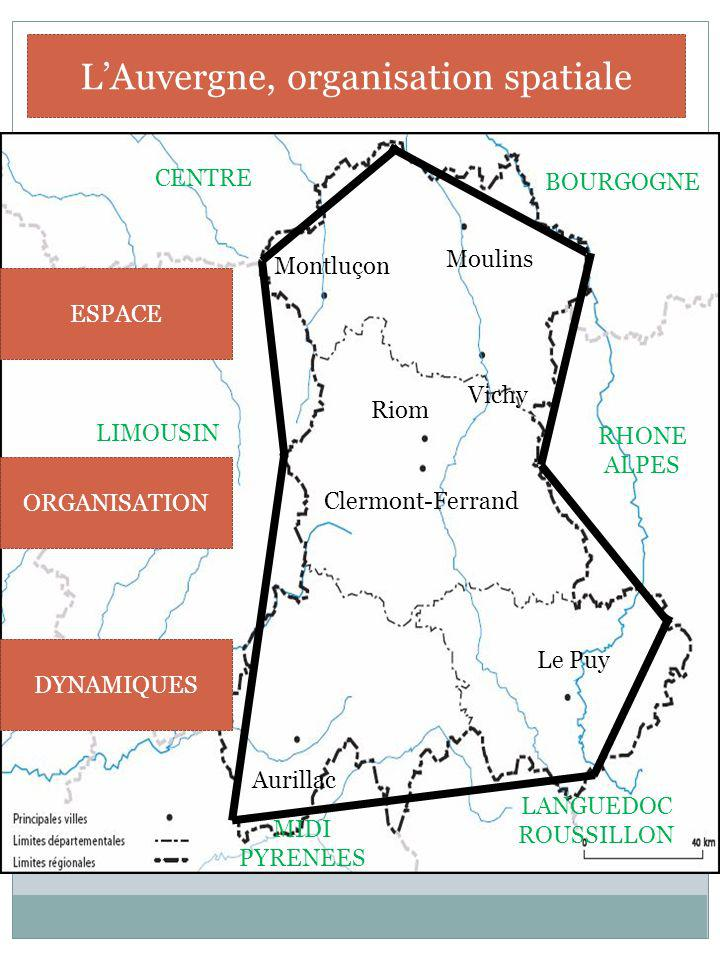 L'Auvergne, organisation spatiale