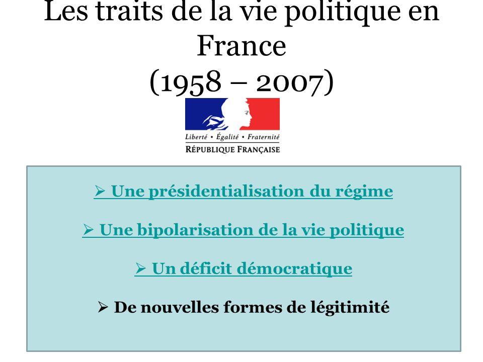 Les traits de la vie politique en France (1958 – 2007)