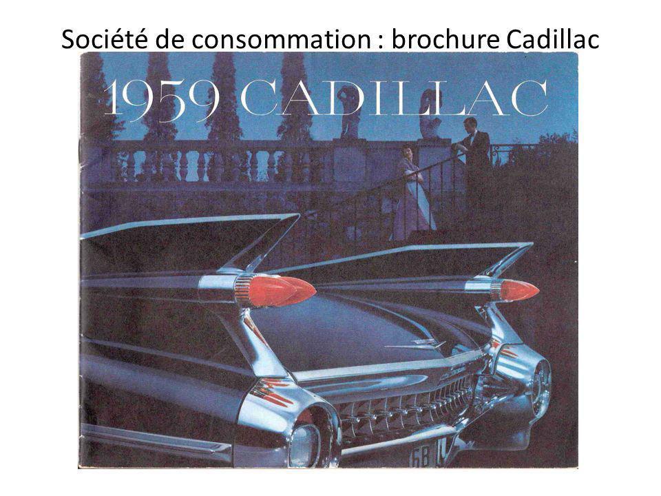 Société de consommation : brochure Cadillac
