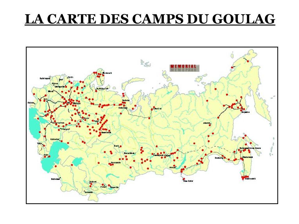 LA CARTE DES CAMPS DU GOULAG