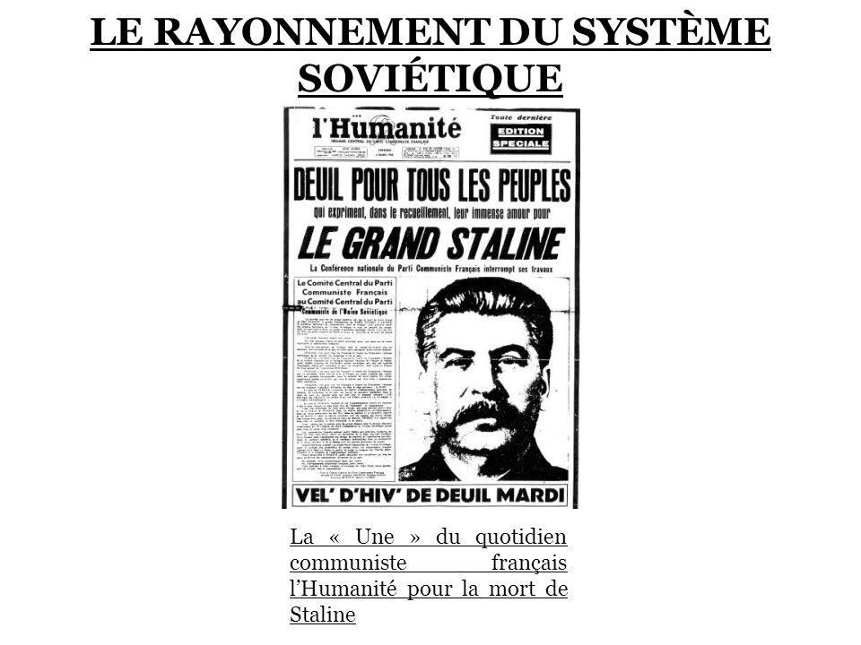 LE RAYONNEMENT DU SYSTÈME SOVIÉTIQUE
