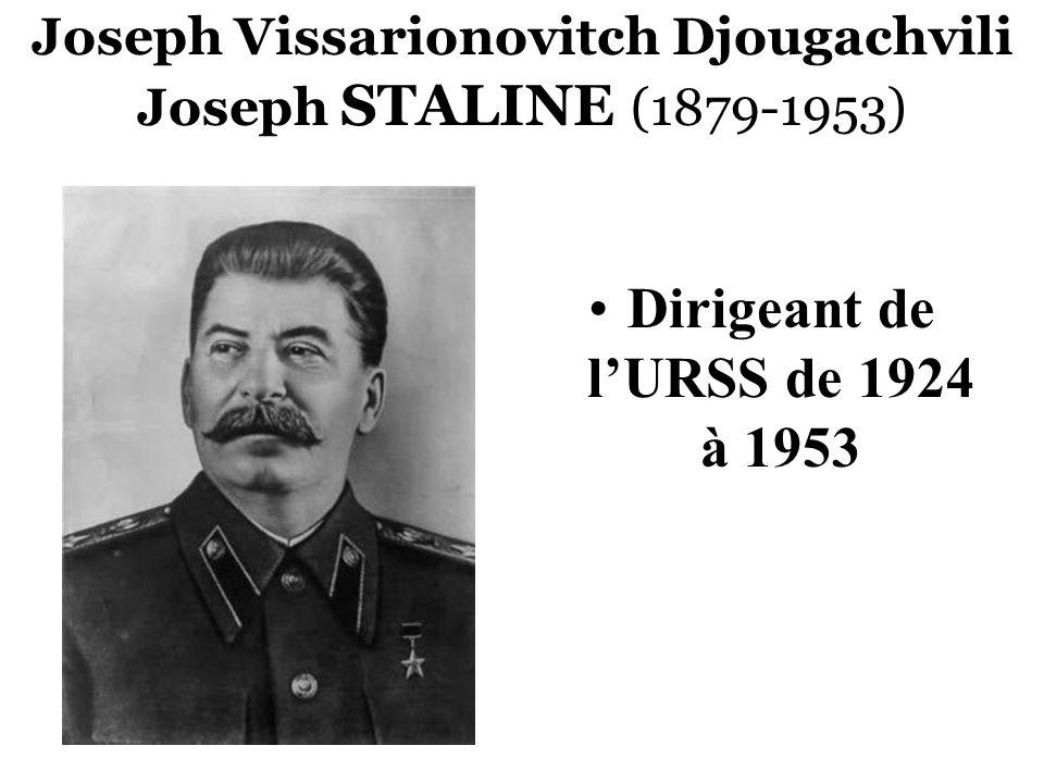 Joseph Vissarionovitch Djougachvili Joseph STALINE (1879-1953)