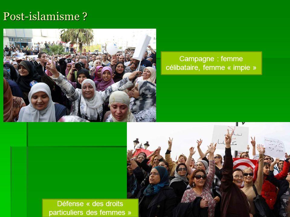 Post-islamisme Campagne : femme célibataire, femme « impie »