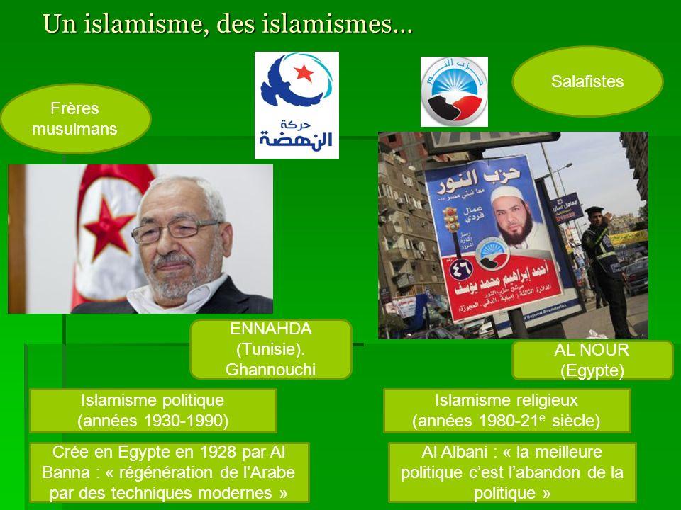 Un islamisme, des islamismes…