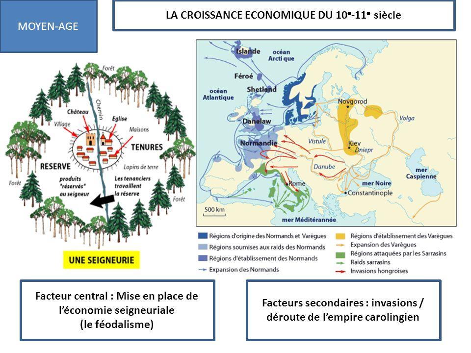 LA CROISSANCE ECONOMIQUE DU 10e-11e siècle