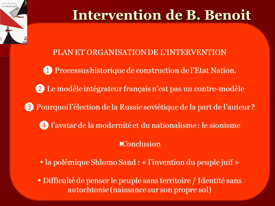 Intervention de B. Benoit
