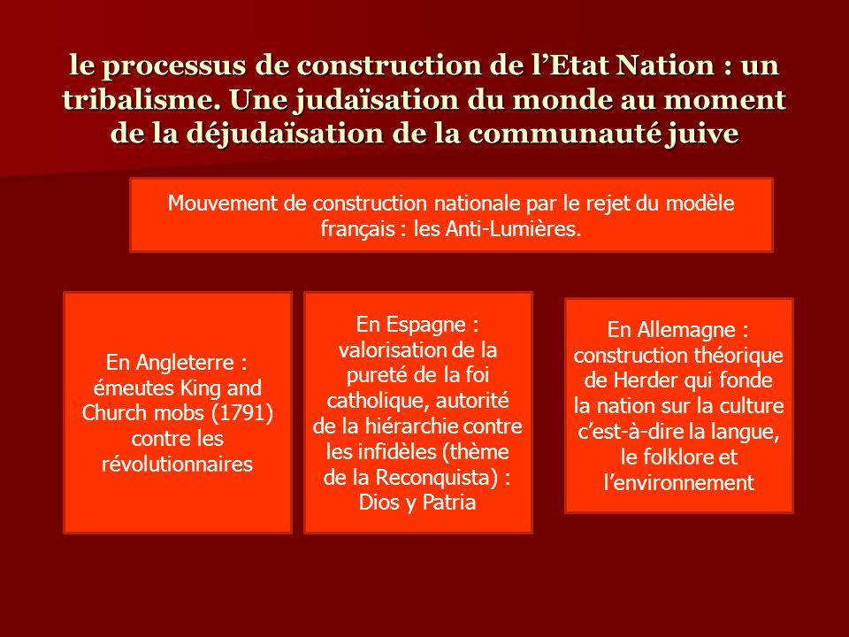 le processus de construction de l'Etat Nation : un tribalisme
