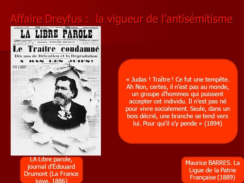 Affaire Dreyfus : la vigueur de l'antisémitisme