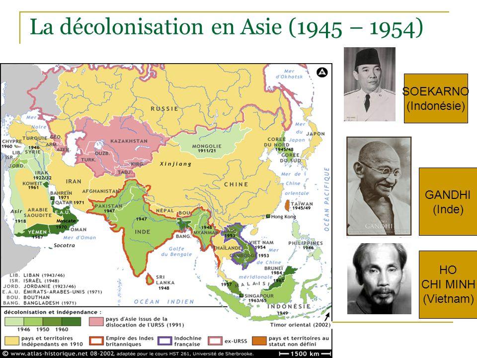 La décolonisation en Asie (1945 – 1954)