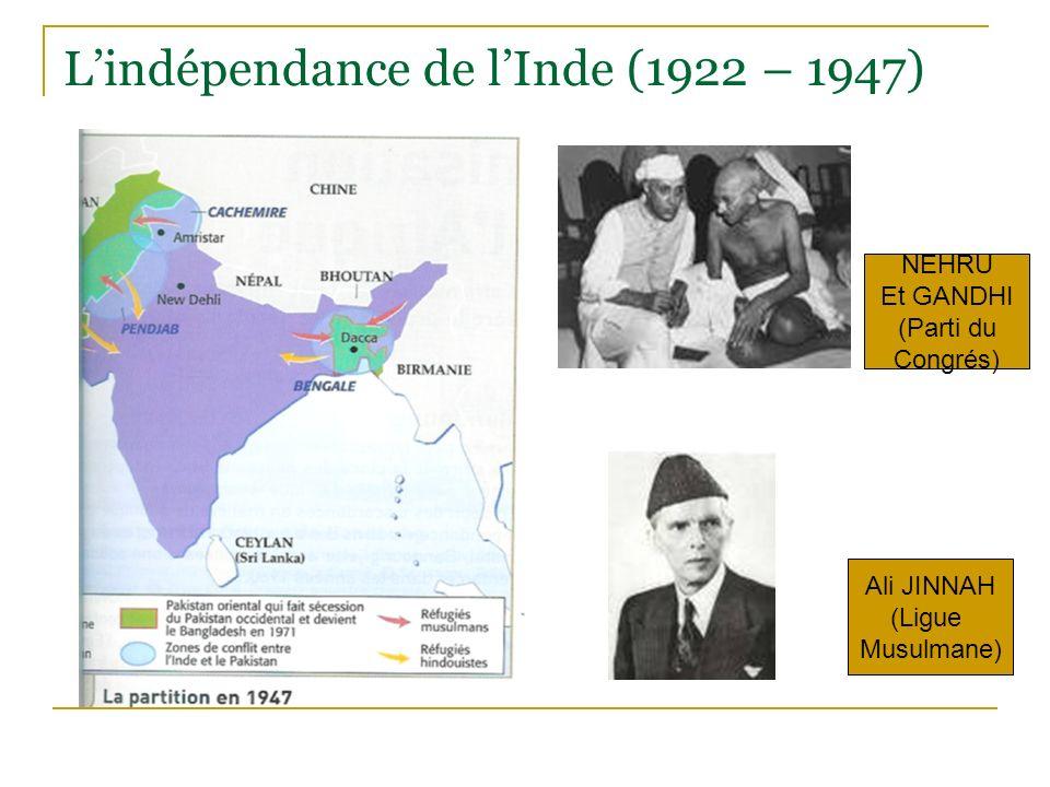 L'indépendance de l'Inde (1922 – 1947)