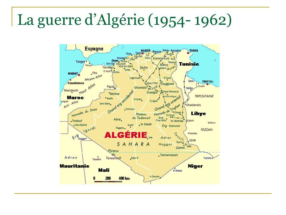 La guerre d'Algérie (1954- 1962)