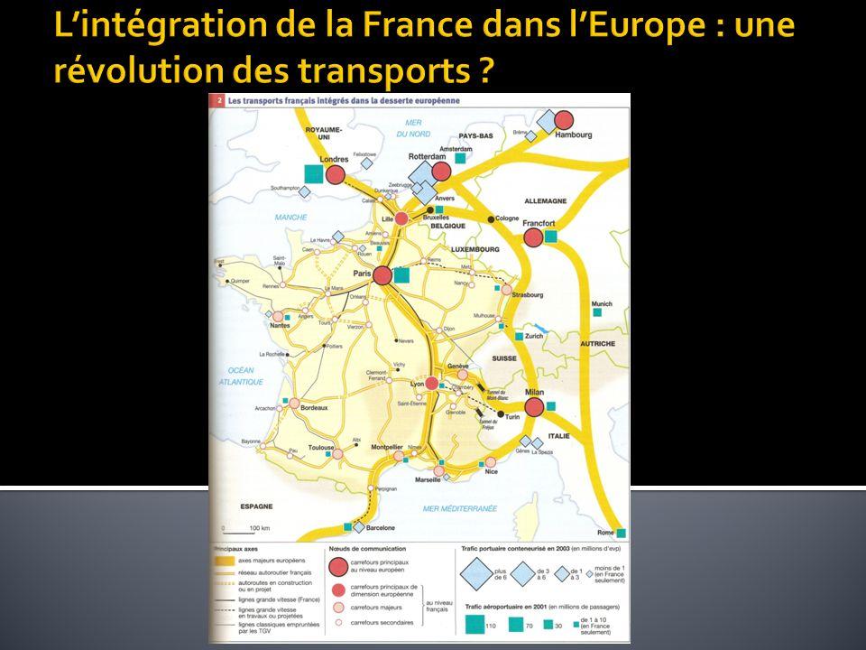 L'intégration de la France dans l'Europe : une révolution des transports