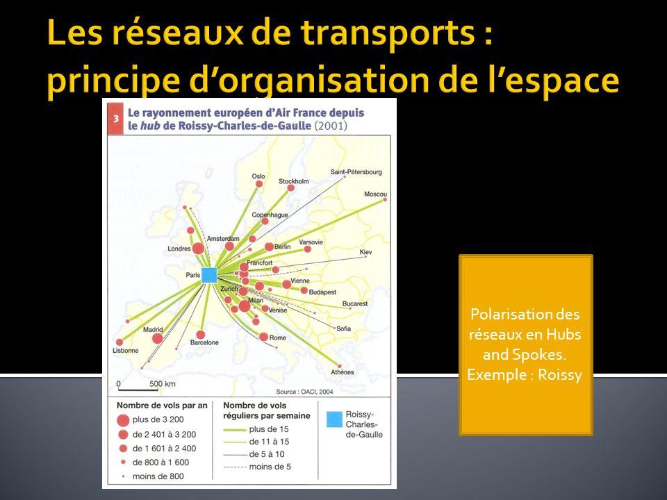 Les réseaux de transports : principe d'organisation de l'espace